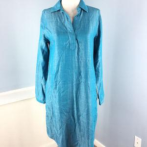 Soft Surroundings Turquoise Blue Shift XS dress